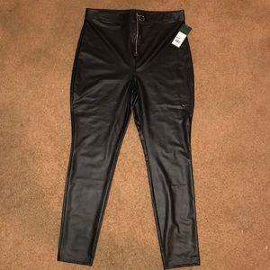 Black Polyester Spandex Pants